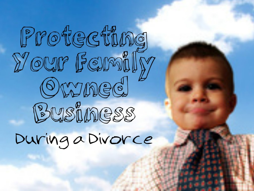 MI divorce attorney Jim Hubbert gives tips on protecting your family-owned business in a Michigan divorce.