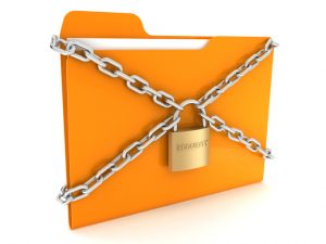 Estate Plan File Protected by Padlock